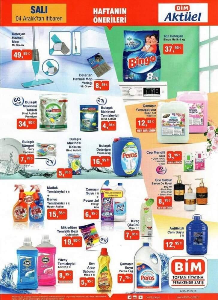 bim 4 aralik 2018 salı aktüel ürünleri