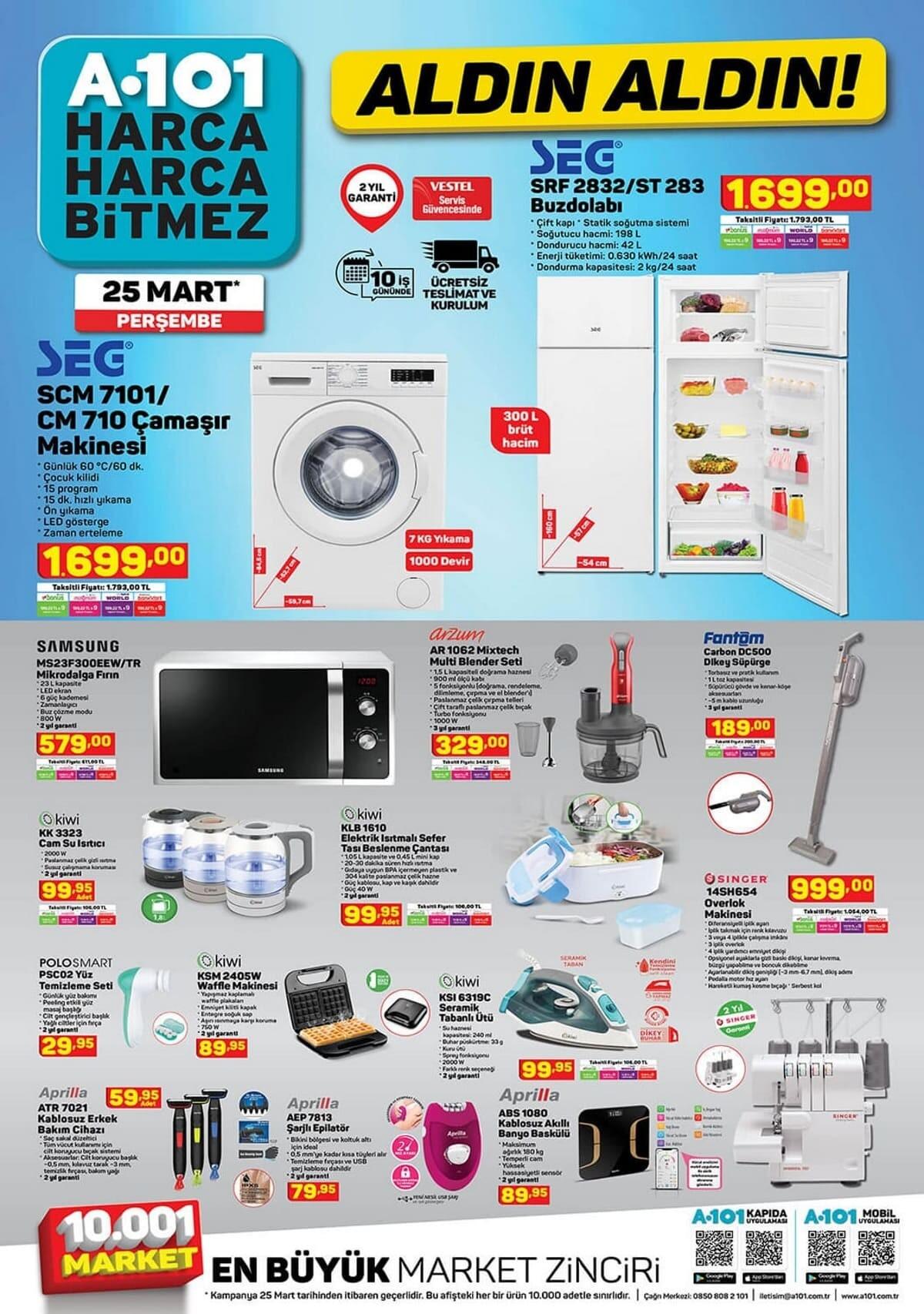 25 mart a101 aktüel ürünleri