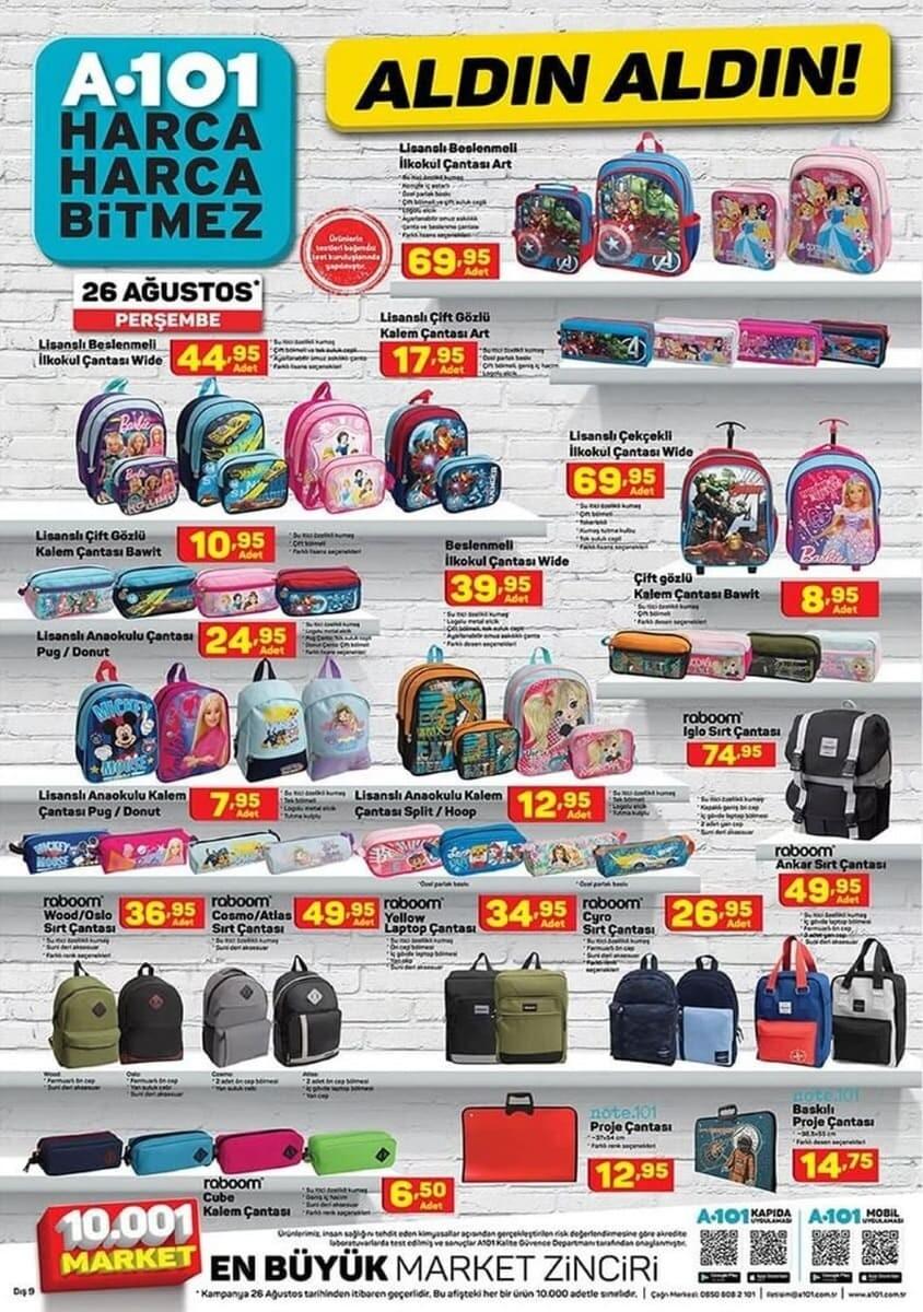 a101 okul malzemeleri ve kırtasiye ürünleri